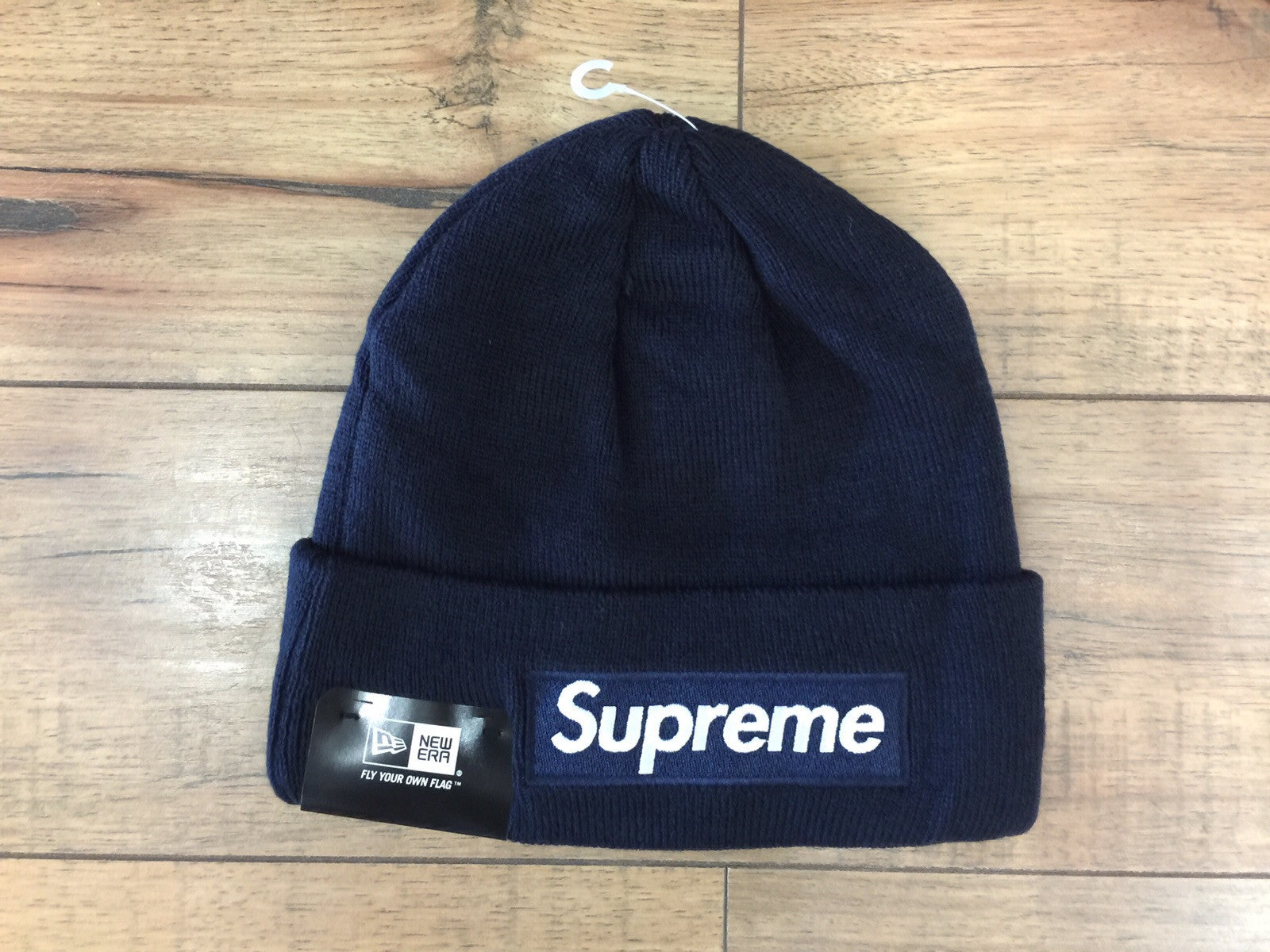 Supreme Box Logo New Era Beanie FW18 (Navy) – Superbored Clothing Ltd. fdf6def46