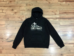 WRONGWROKS Sneaker illustration Hoodie (WHITE / BLACK)