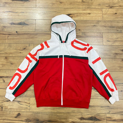 Supreme Big Logo Paneled Zip Up (Red)