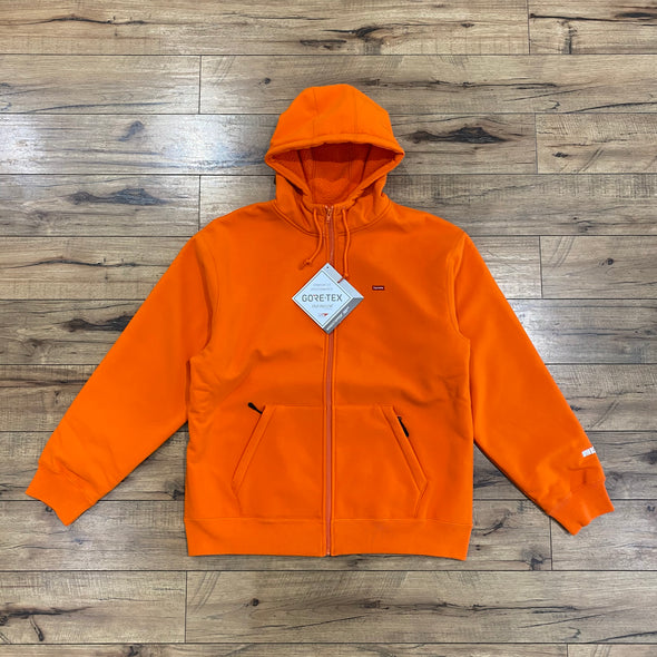 Supreme WINDSTOPPER Zip Up Hooded Sweatshirt Orange