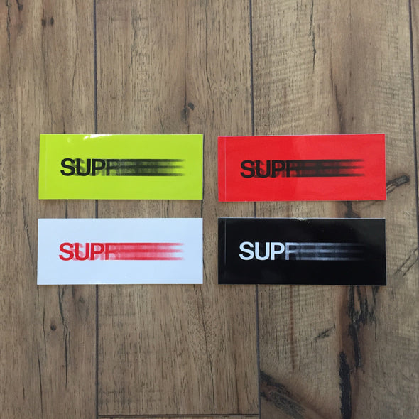 SUPREME Motion Sticker