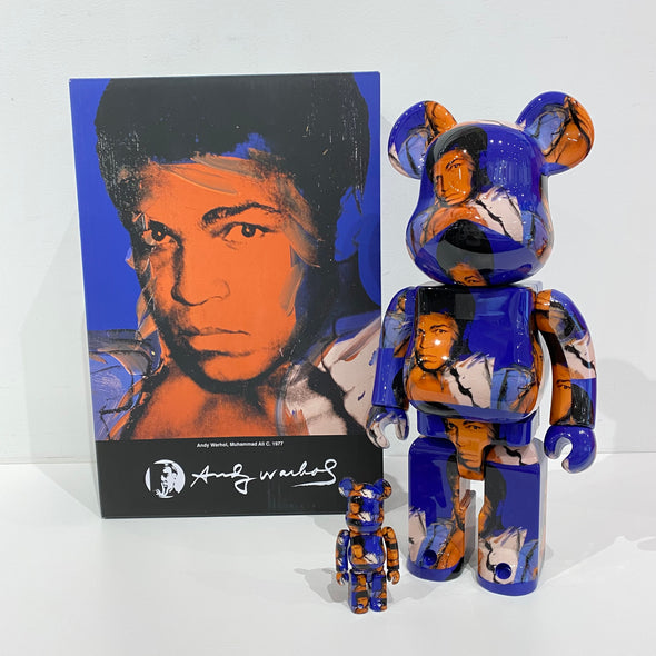 Be@rbrick Andy Warhol's Muhammad Ali 100% & 400% Set