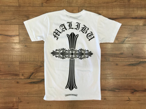 CHROME HEART MALIBU CROSS TEE (WHITE)