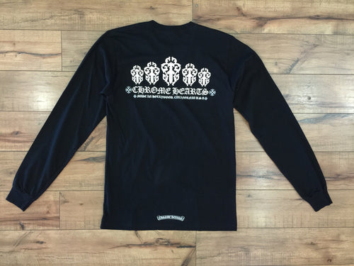 CHROME HEART DAGGER LONG SLEEVE TEE (BLACK)