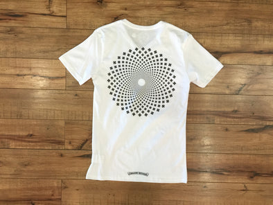 CHROME HEART PSYCHEDELIC PLUS VNECK TEE (WHITE)