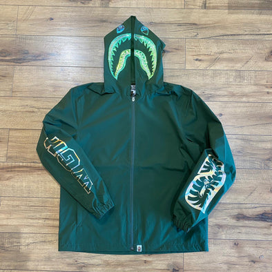Bape Hologram Shark Hooded Windbreaker (Green)