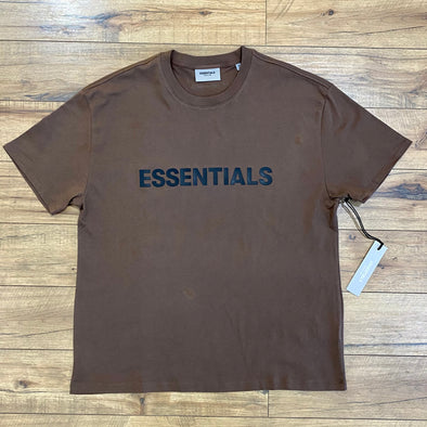 FEAR OF GOD ESSENTIALS Boxy T-Shirt 3D Applique Logo Rain Drum
