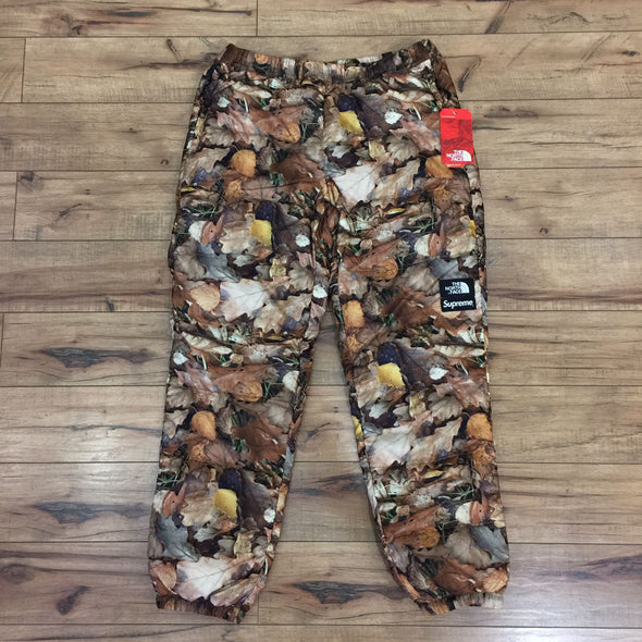 Supreme x The North Face (TNF)Nuptse Pants (Multi-Color Leaves)