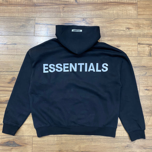 FEAR OF GOD ESSENTIALS 3M Logo Hoodie (Black)