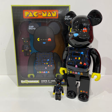 Pac-Man 100% 400% Be@rbrick Set (black)