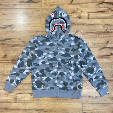 Bape Color Camo Shark Hoodie (Grey)