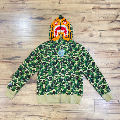 Bape ABC Camo Tiger Shark Hoodie (Green)