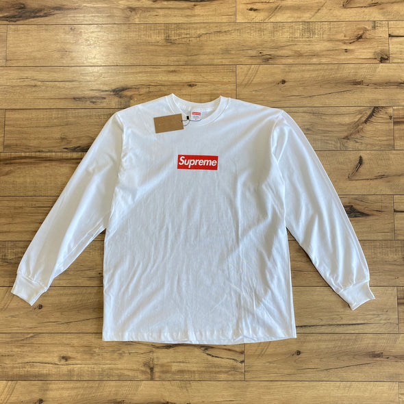 Supreme Box Logo L/S Tee (White)