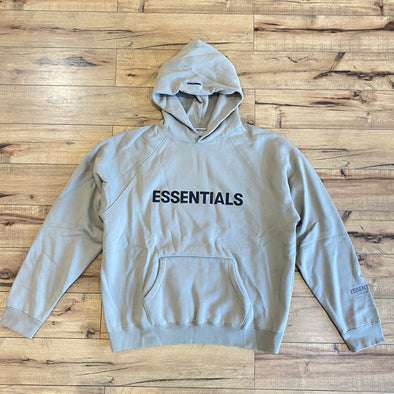 FEAR OF GOD ESSENTIALS 3D Silicon Applique Hoodie Moss