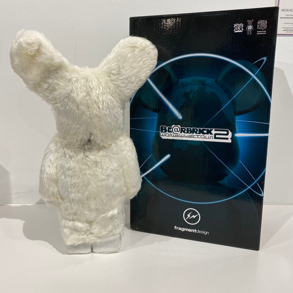 Be@rbrick World Wide Tour Fragment Wolf x Rabbit 400% White
