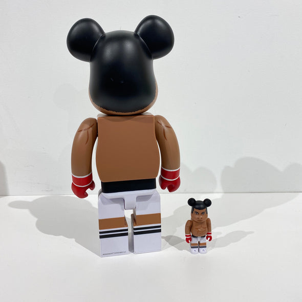 Be@rbrick Muhammad Ali 100% & 400% Set Brown