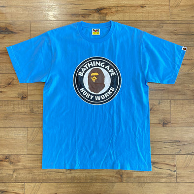 Bape Busy Works Tee (Blue)