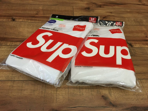 Supreme Hanes Tagless T-shirts (White)