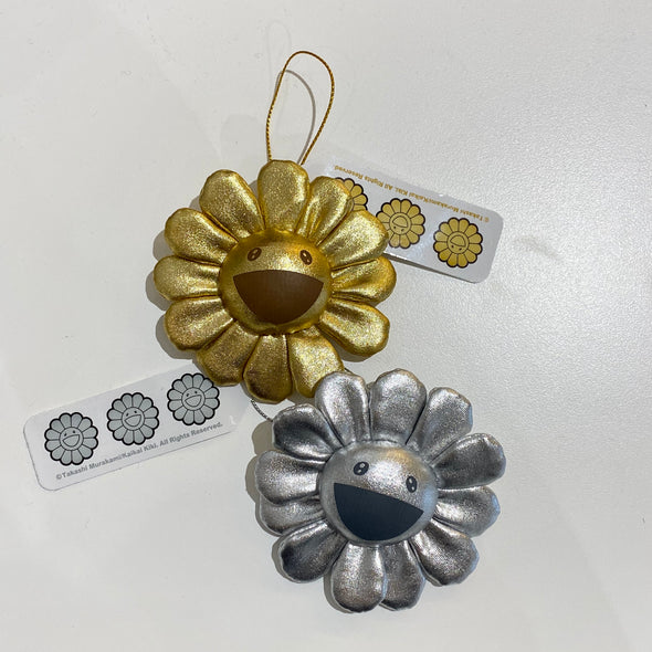 Takashi Murakami Plush Flower Pin and Key Chain Limited(Gold/Silver)