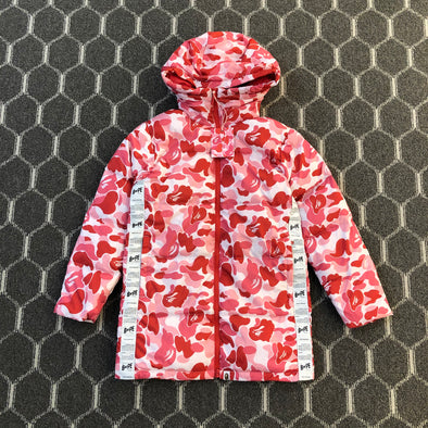 A BATHING APE ABC CAMO DOWN JACKET (PINK)