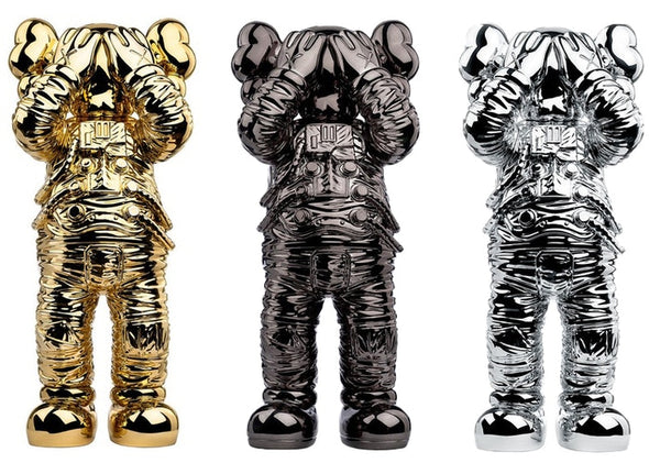 KAWS Holiday Space Figure Gold/Black/Silver Set