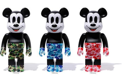 Be@rbrick Mickey Mouse x BAPE Set 1000%