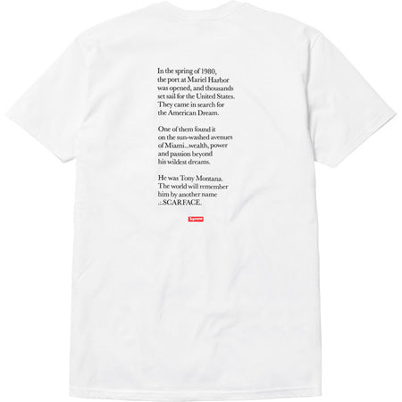 Supreme x Scarface Friend Tee (White)