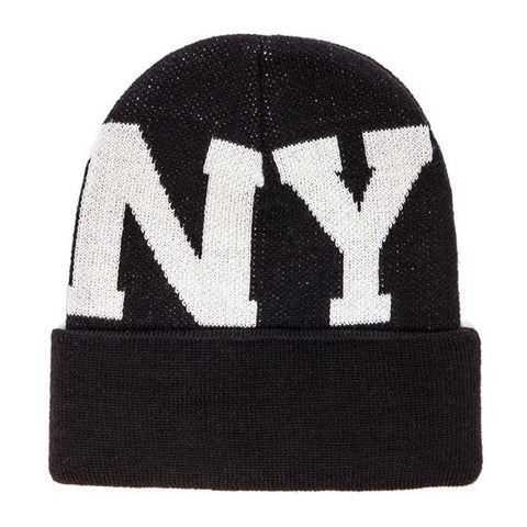 STAMPD Large LA NY Beanie (Black)
