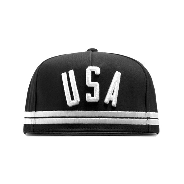 STAMPD USA Stripe Hat (Black)