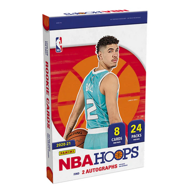 2020-21 Panini NBA Hoops Basketball Hobby Box (24 PACKS / 8 CARDS PER PACK) 2 Autographs per box on average