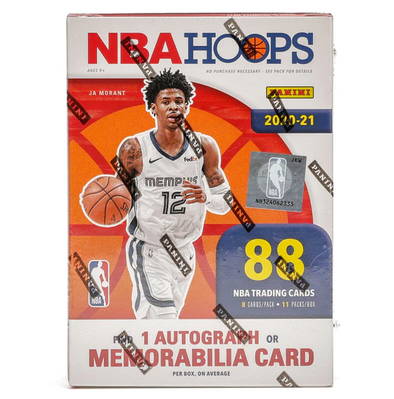2020-21 Panini NBA Hoops Basketball Blaster Box 88 Cards (1 autograph or memorabilia)