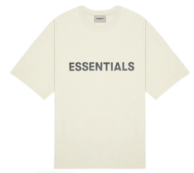 FEAR OF GOD ESSENTIALS 3D Silicon Applique Boxy T-Shirt (Buttercream)
