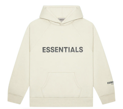 FEAR OF GOD ESSENTIALS Pullover Hoodie Applique Logo Buttercream