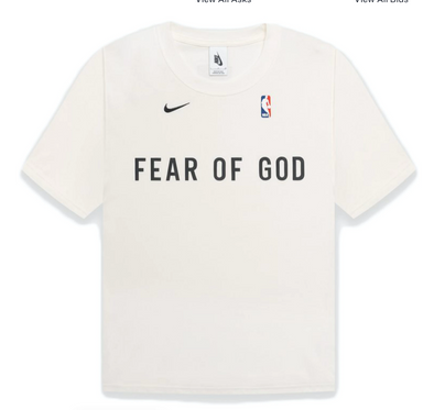 FEAR OF GOD x Nike NBA Warm Up T-Shirt Sail
