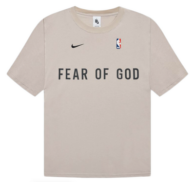 FEAR OF GOD x Nike NBA Warm Up T-Shirt Oatmeal