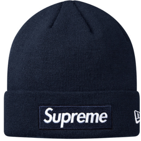 Supreme Box Logo New Era Beanie FW18 (Navy)