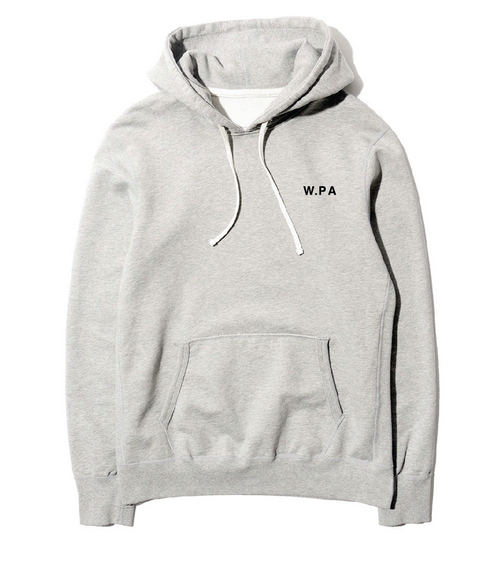 W.PA Simple Logo Pullover Hoodie (Grey)