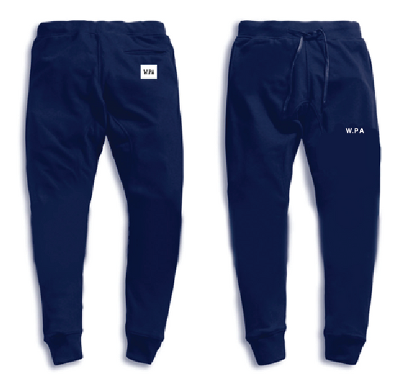 W.PA Simple Logo Sweatpants (Navy)
