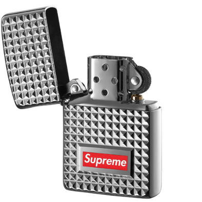 separation shoes 95b33 806ba Supreme Diamond Cut Zippo Lighter (Silver)