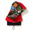 Bape Shark Face Mask Hood (Red)