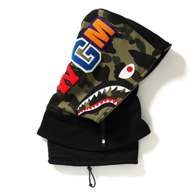 Bape Shark Face Mask Hood (Black)