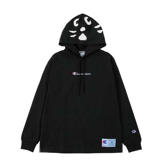 Champion x Ne Net Cat Hoodie (Black)