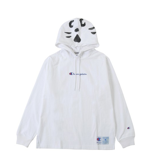 Champion x Ne Net Cat Hoodie (White)