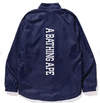 Bape Logo Coach Jacket (Navy)
