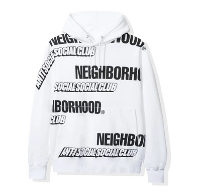 ASSC x Neighborhood Japan Multi Hoodie (White)(AntiSocialSocialClub)