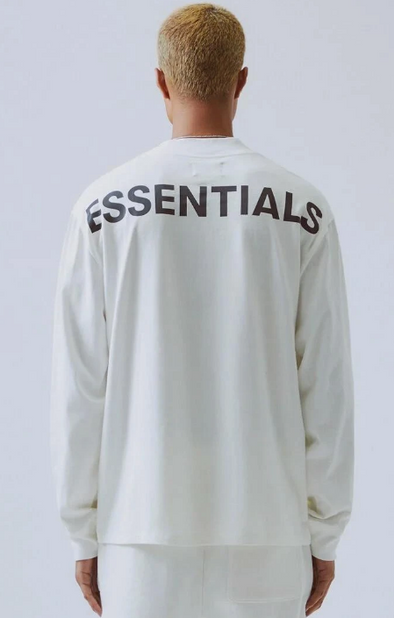 FEAR OF GOD ESSENTIALS 3M Logo Crewneck (White)