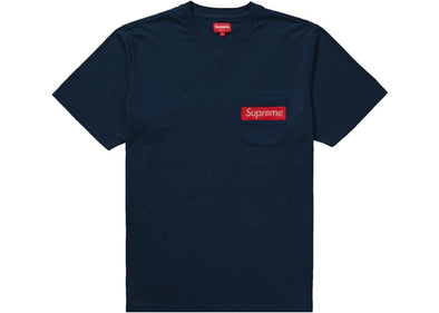 Supreme Mesh Stripe Pocket Tee (Navy)