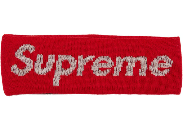 Supreme New Era Reflective Logo Headband (Red)
