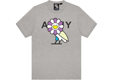 Takashi Murakami x OVO Surplus Flower Owl Tee Heather Grey