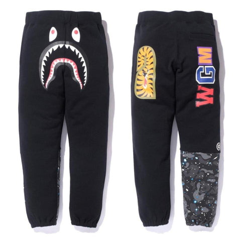 Bape Glow In Dark Space Camo Shark Sweat Pants